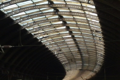 York station curving glass roof