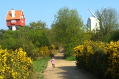 Thorpeness house-in-the-clouds and windmill