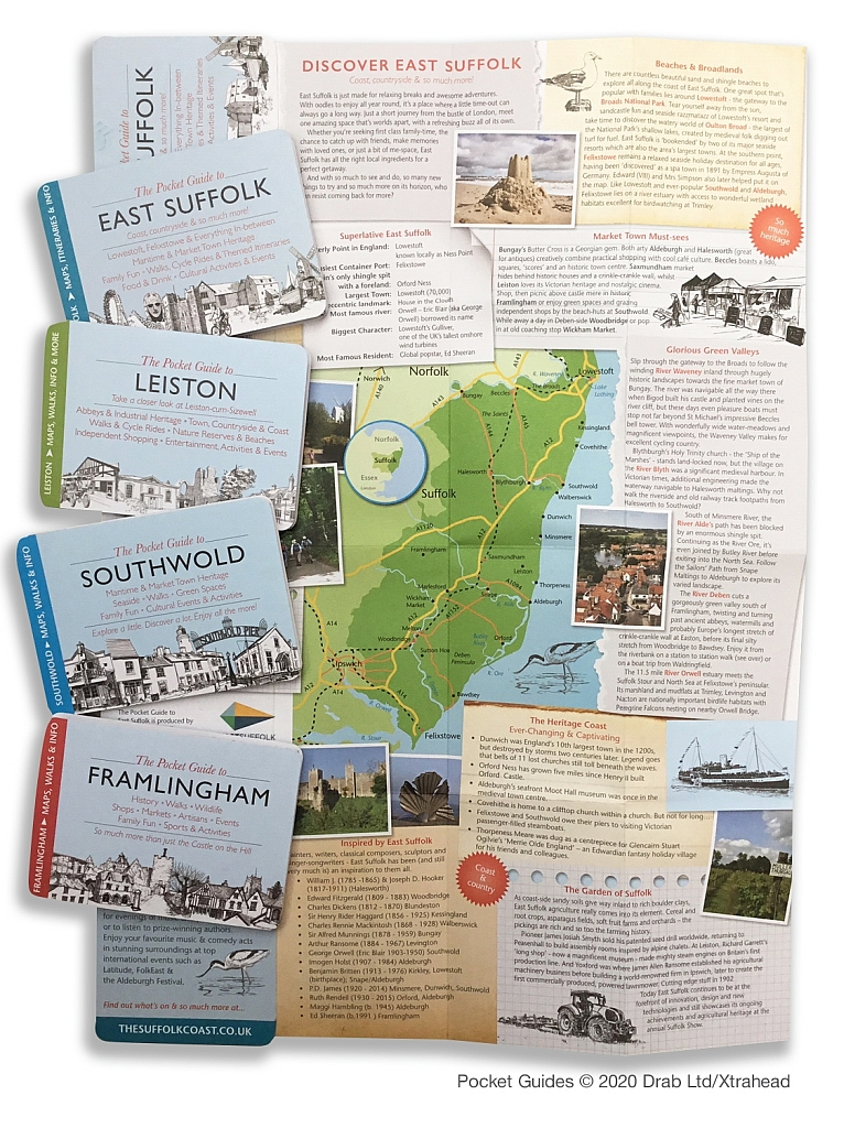 selection of pocket guides to Suffolk destinations