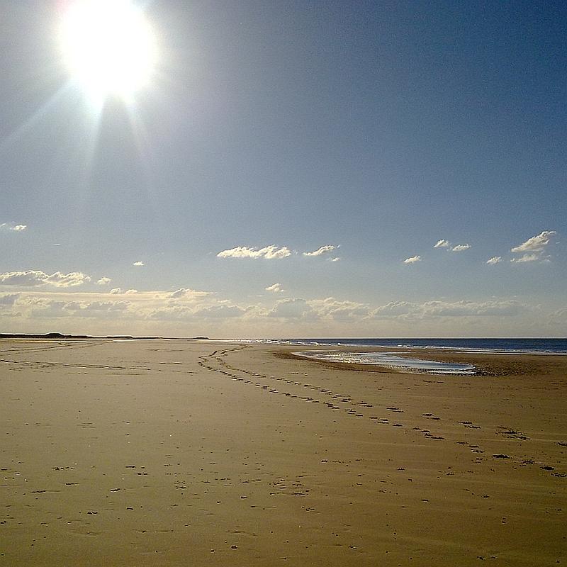 Sunlight over Holkham beach Norfolk by Xtrahead photography