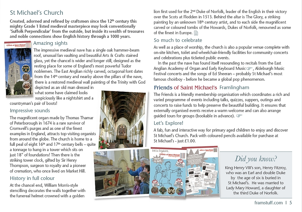 About St Michael's Church Framlingham from Xtrahead Welcome to Framlingham Guide