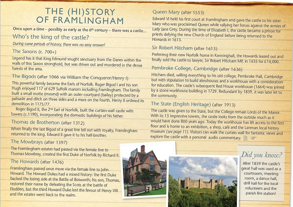 Framlingham History from Xtrahead Welcome to Framlingham guide