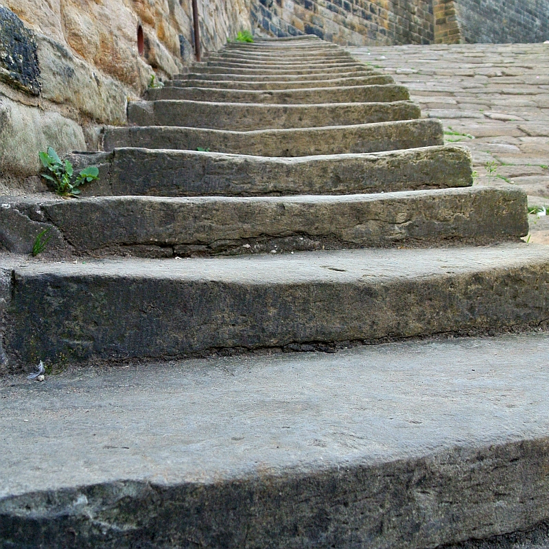 historic steps by cobbled street by Xtrahead photography
