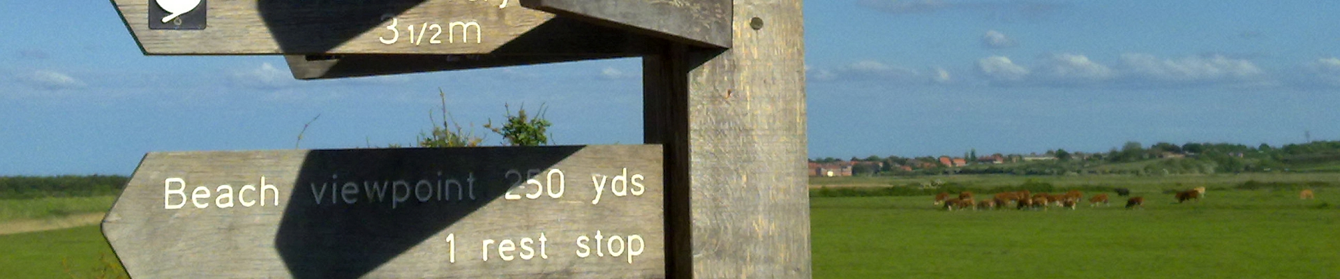 signpost Norfolk Coast Path Xtrahead photography